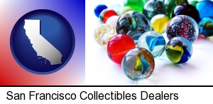 San Francisco, California - glass marbles