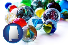 alabama glass marbles