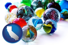 california glass marbles