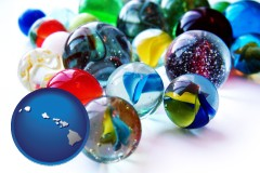 hawaii glass marbles