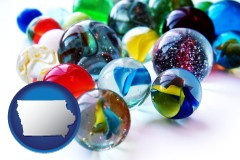 iowa glass marbles