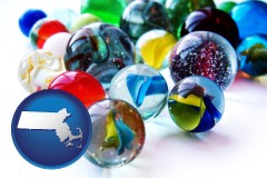 massachusetts glass marbles