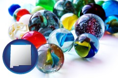 new-mexico glass marbles