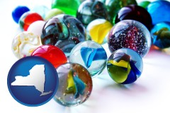 new-york glass marbles
