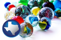 texas glass marbles