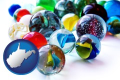 west-virginia glass marbles